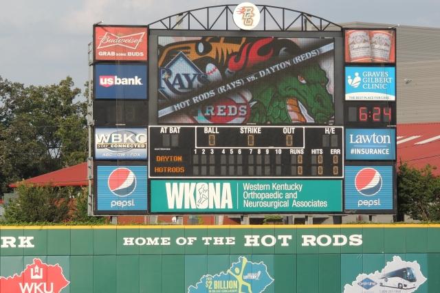 BGvD on scoreboard