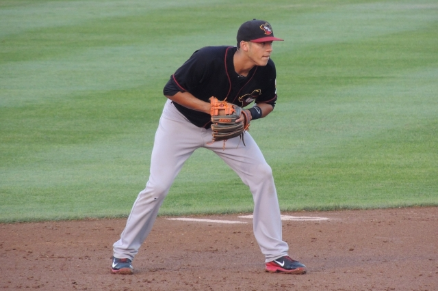 Houston Astros star Carlos Correa was the starting shortstop for the 2013 Quad Cities River Bandits. (Photo by Craig Wieczorkiewicz/The Midwest League Traveler)