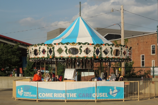 This carousel was added to Bowling Green Ballpark about a month ago.
