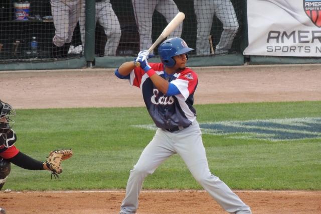 South Bend's Charcer Burks drove in a run for the East in the 4th inning.