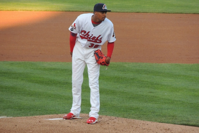 Peoria Chiefs RHP Luis Perdomo (Photo by Craig Wieczorkiewicz/The Midwest League Traveler)