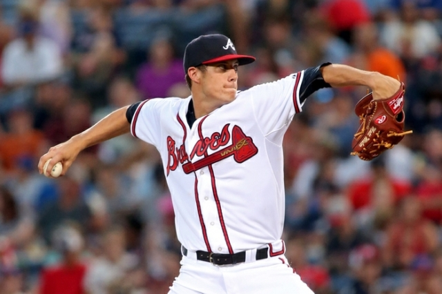 Matt Wisler delivers a pitch in the 5th inning of his MLB debut at Atlanta's Turner Field. (Photo by Jason Getz/USA TODAY Sports)