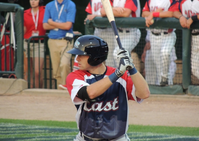 West Michigan's Michael Gerber collected two hits for the East All-Stars.