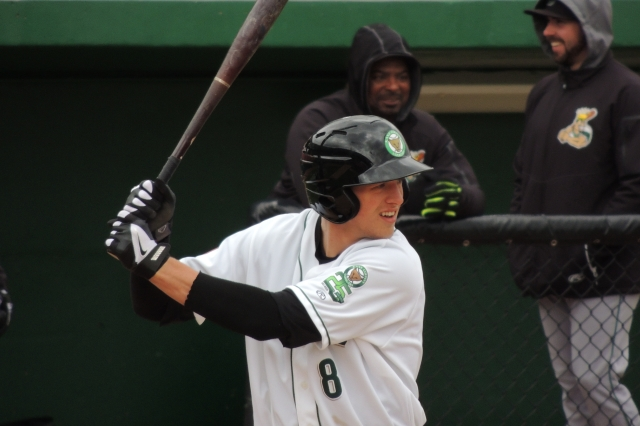 Colin Bray bats for the Kane County Cougars. (Photo by Craig Wieczorkiewicz/The Midwest League Traveler)