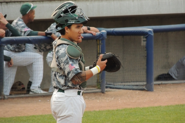 Beloit Snappers catcher Iolana Akau