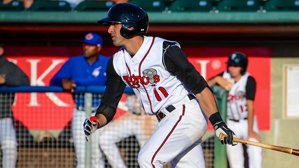 Lansing Lugnuts infielder Jason Leblebijian is the new Midwest League offensive player of the week. (Photo by Kyle Castle)