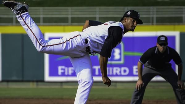 RHP Jesus Tinoco made 15 starts for the Lansing Lugnuts this year. (Photo by Kyle Castle)