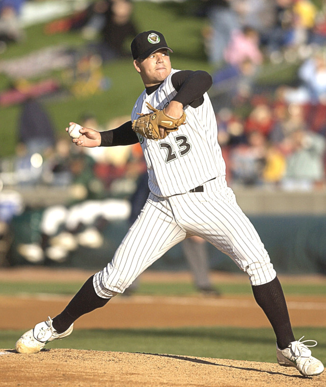 Joe Blanton pitched for the Kane County Cougars in 2003. (Photo from The Cougars Den blog)