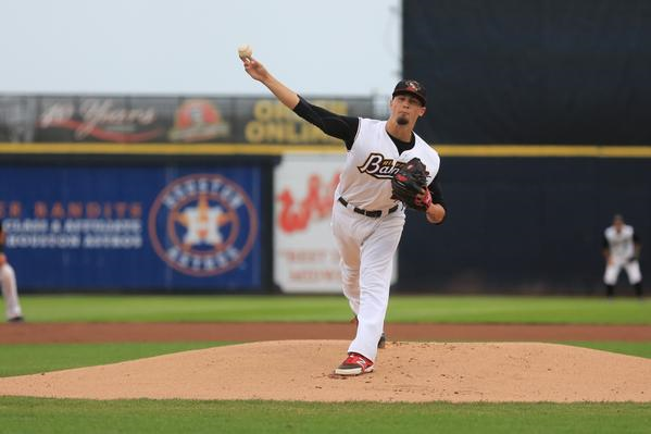 Quad Cities River Bandits RHP Dean Deetz delivers a pitch at Modern Woodmen Park earlier this month. (Sean Flynn Photography)