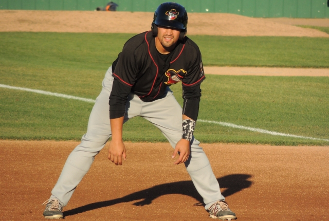 Quad Cities River Bandits 3B Nick Tanielu went 3-for-4 with 3 RBI on Friday. (Photo by Craig Wieczorkiewicz/The Midwest League Traveler)