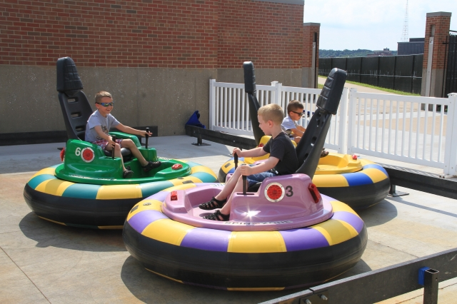 Children ride the new bumper cars at Modern Woodmen Park. (Sean Flynn Photography)