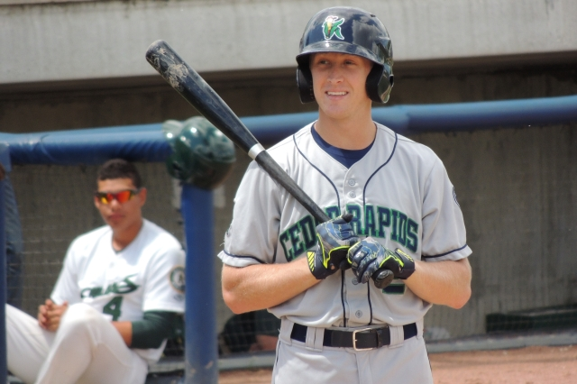 Cedar Rapids Kernels outfielder Tanner English (Photo by Craig Wieczorkiewicz/The Midwest League Traveler)