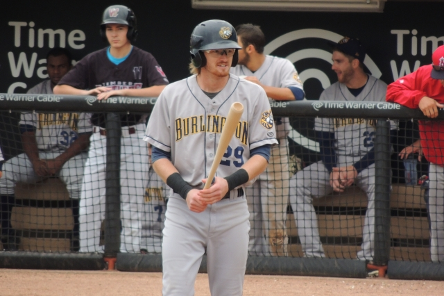Former Burlington Bees outfielder Trevor Gretzky was released by the Angels on Saturday. (Photo by Craig Wieczorkiewicz/The Midwest League Traveler)