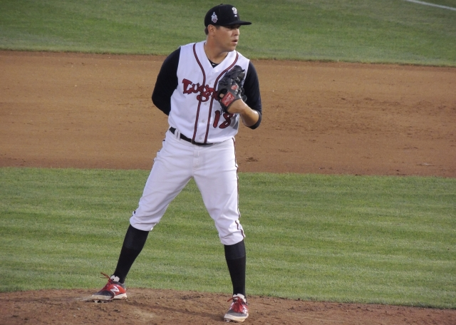 Conor Fisk earned the win for the Lansing Lugnuts after pitching five scoreless innings Thursday. (Photo by Craig Wieczorkiewicz/The Midwest League Traveler)
