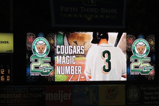 Cougars magic number 3