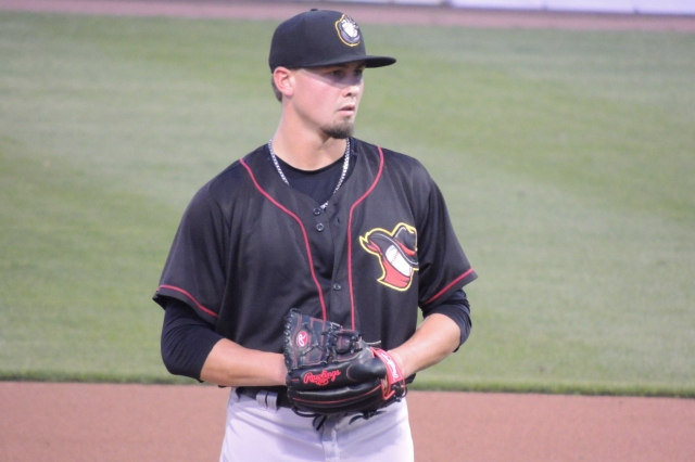 Quad Cities River Bandits RHP Dean Deetz (Photo by Craig Wieczorkiewicz/The Midwest League Traveler)