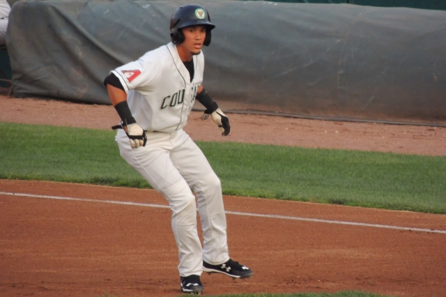 Kane County Cougars SS/2B Ildemaro Vargas led the Midwest League with a .321 batting average this year. (Photo by Craig Wieczorkiewicz/The Midwest League Traveler)
