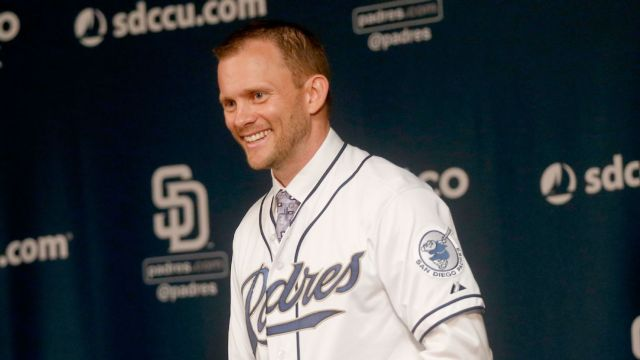 The Padres introduced Andy Green as their new manager Thursday. He was the starting second baseman for the 2001 South Bend Silver Hawks. (AP photo by Lenny Ignelzi)