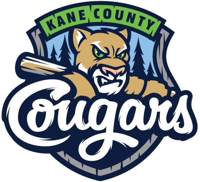 The new primary logo of the Kane County Cougars
