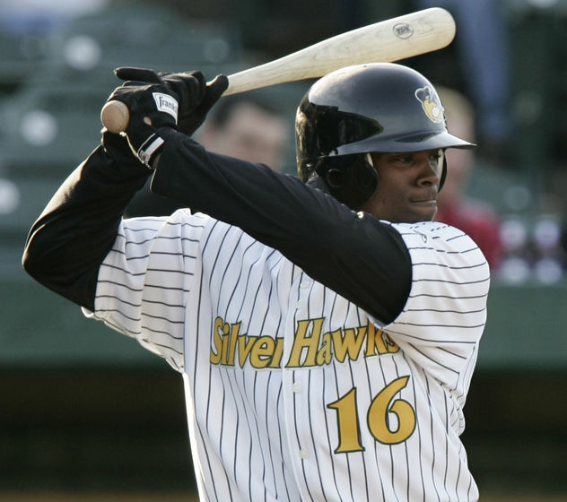 Justin Upton bats for the South Bend Silver Hawks in April 2006. (Photo by Santiago Flores/South Bend Tribune)