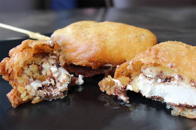 Deep Fried Reese's Peanut Butter Cup Pie