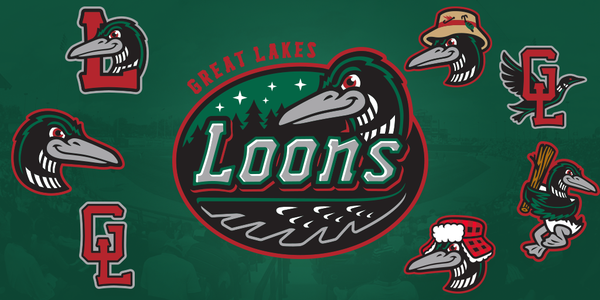 The new Great Lakes Loons logos that were unveiled prior to the 2016 season.