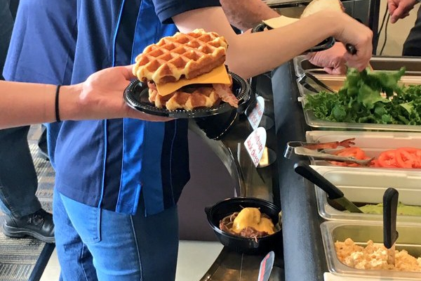BYOB waffle burger