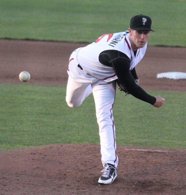 Anthony DeSclafani pitched for the Lansing Lugnuts in 2012. (Photo from The 2-2 Pitch blog)