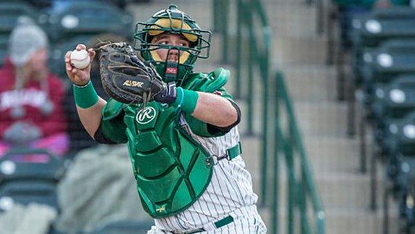 Fort Wayne TinCaps catcher Austin Allen was named the Midwest League Player of the Month for April. (Photo by Jeff Nycz)