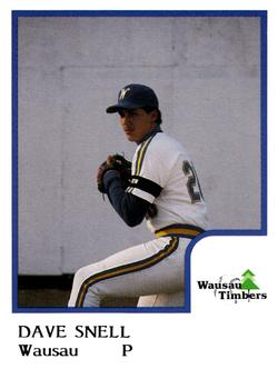 Dave Snell's Wausau Timbers card