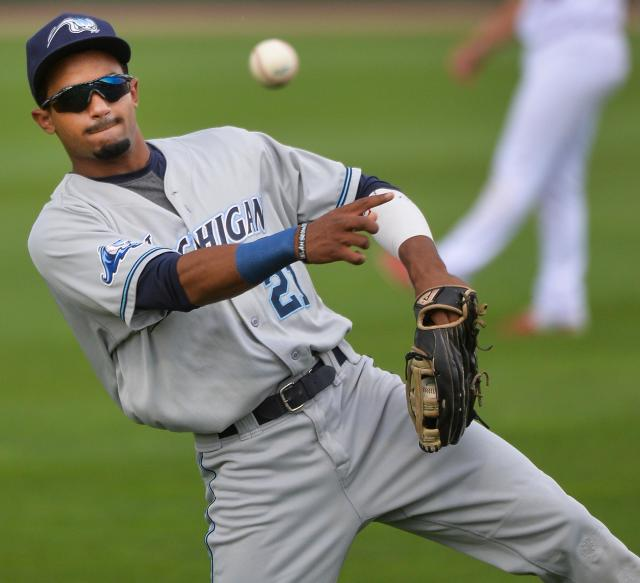 Tigers prospect Derek Hill -- Detroit's top draft pick in 2014 -- returns to the West Michigan Whitecaps for the start of the 2016 season. (Photo by Ron Johnson/Peoria Journal Star)