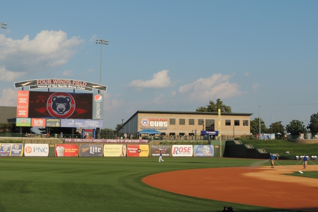 Four Winds Field, home of the South Bend Cubs. (Photo by Craig Wieczorkiewicz/The Midwest League Traveler)