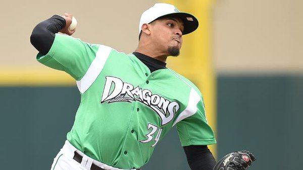 Dayton Dragons hurler Franderlyn Romero is the Midwest League Pitcher of the Week. (Dayton Dragons photo)
