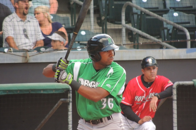 Outfielder Narciso Crook returns to the Dayton Dragons for the start of the 2016 season. (Photo by Craig Wieczorkiewicz/The Midwest League Traveler)