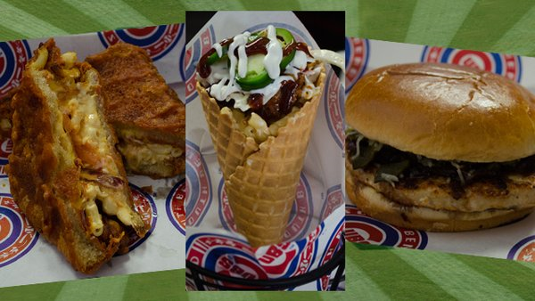 Some of the new food options at Four Winds Field this year. (Graphic by the South Bend Cubs)