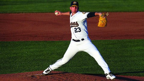 Sean Murphy pitched in the Midwest League in 2011 and 2012. (Burlington Bees photo)
