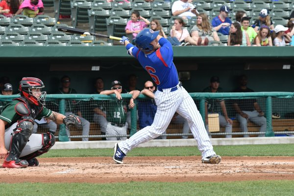 South Bend Cubs catcher Ian Rice homered twice and drove in five runs Saturday. (Photo courtesy of the South Bend Cubs)