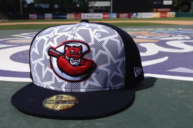The Kane County Cougars are one of 128 teams that will wear specially-designed Stars and Stripes caps during the Independence Day weekend. (Photo provided by the Cougars)