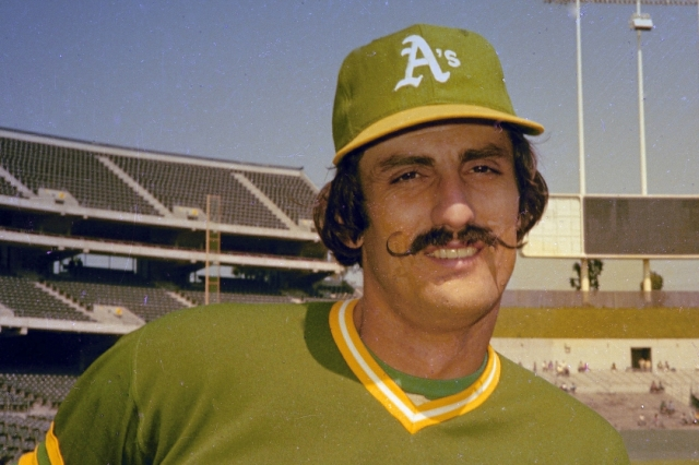 Former Oakland A's pitcher Rollie Fingers in 1976. (Associated Press photo)