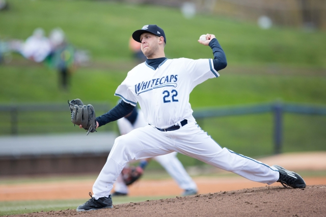 West Michigan Whitecaps LHP Matt Hall (7-0, 0.65 ERA, 63 Ks in 10 starts) headlines the Eastern Division pitching staff.(Photo by Kevin Sielaff/Local Sports Journal)
