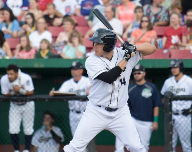 Kane County Cougars 1B Austin Byler is the Midwest League offensive player of the week. (Photo courtesy of the Kane County Cougars)