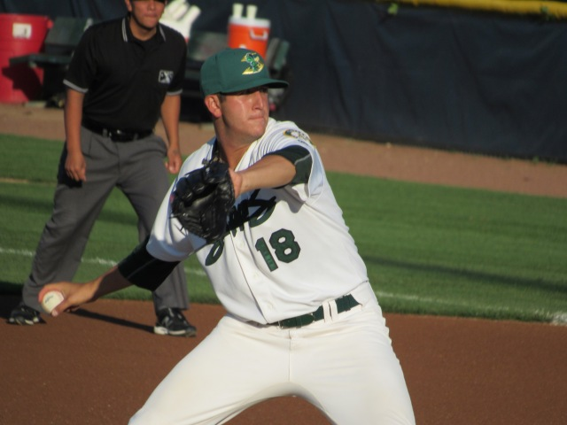 Beloit Snappers RHP Brendan Butler picked up the win in his Midwest League debut Monday at Pohlman Field.