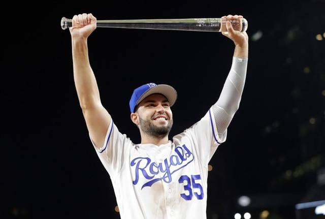 Kansas City Royals 1B Eric Hosmer -- a former Burlington Bee -- was named the MVP of this year's MLB All-Star Game. (Photo by Gregory Bull/The Associated Press)