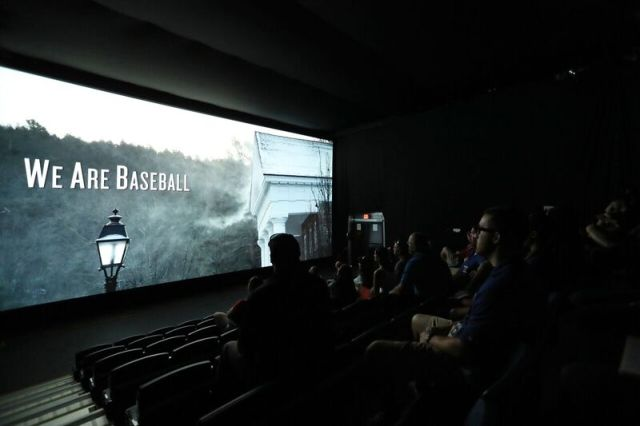 An IMAX presentation is part of the Baseball Hall of Fame Tour. (Photo by Alex Trautwig/MLB Photos)