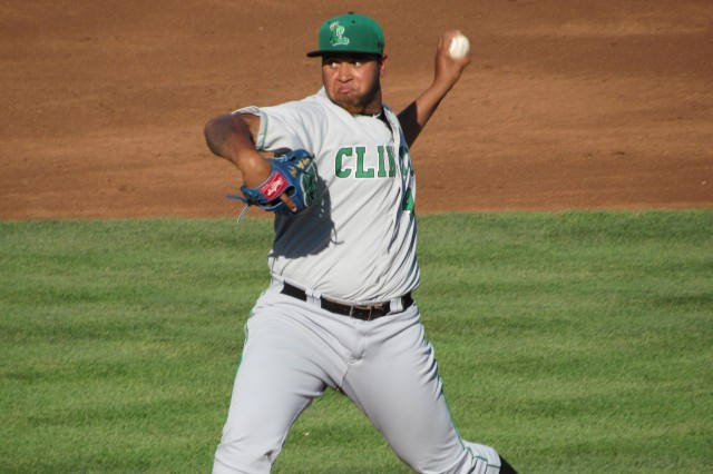 Clinton LumberKings LHP Luiz Gohara (Photo by Craig Wieczorkiewicz/The Midwest League Traveler)
