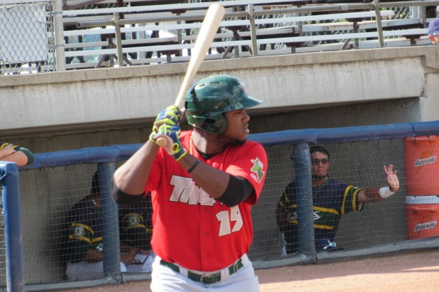 Fort Wayne TinCaps third baseman Carlos Belen is the Midwest League offensive player of the week. (Photo by Craig Wieczorkiewicz/The Midwest League Traveler)