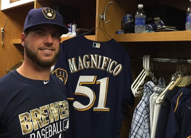 Former Wisconsin Timber Rattlers pitcher Damien Magnifico was called up to the big leagues Tuesday. (Photo courtesy of the Milwaukee Brewers)