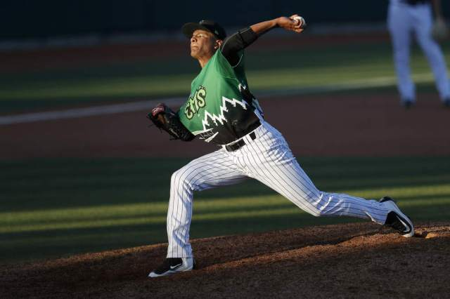 LHP Manuel Rondon is 6-0 with a 1.11 ERA in 10 starts for the Eugene Emeralds this season. (Photo by Ryan Kang/The Register-Guard)