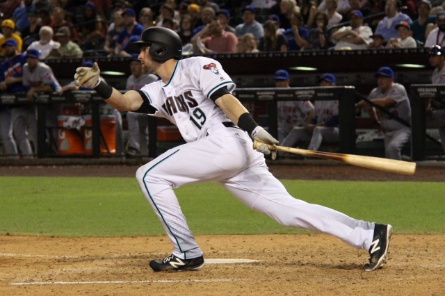 Former Wisconsin Timber Rattlers outfielder Mitch Haniger drove in three runs in his MLB debut Tuesday. (Photo courtesy of the Arizona Diamondbacks)