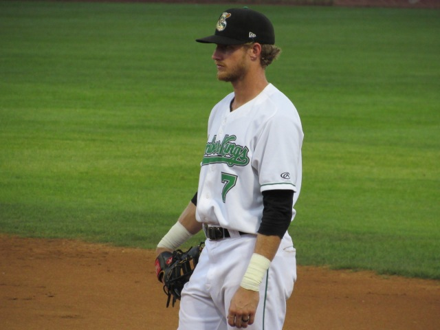 Dalton Kelly was one of three former Clinton LumberKings traded by the Seattle Mariners on Friday. (Photo by Craig Wieczorkiewicz/The Midwest League Traveler)